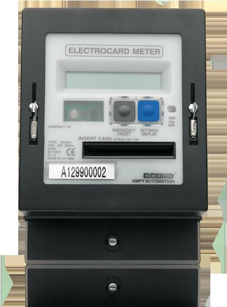 Digicard electrocard meter